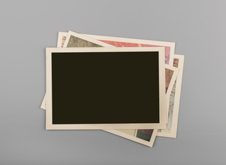 Wall Mural - Stack of Blank vintage photos