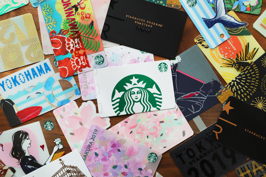 2020年3月に東京で撮影、スターバックスカード