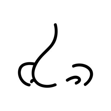 rasshirenie nostrils icon vector. rasshirenie nostrils sign. isolated contour symbol illustration