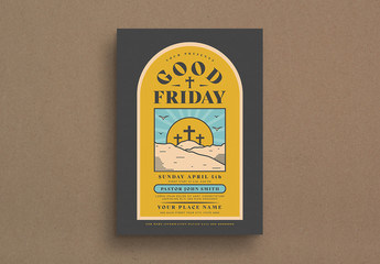 Good Friday Event Flyer Layout