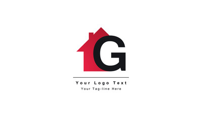 "home logo design, the letter ""G"" is designed to be a symbol or Icon of the house vector"