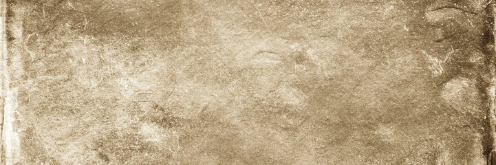 Sepia background. Front view of blank old dirty background