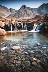 Poster Bos rivier The Fairy Pools, Glen Brittle, Skye, Scotland