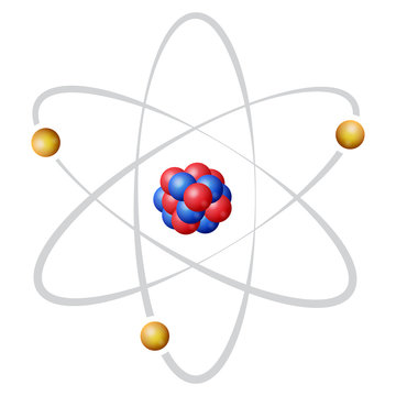 Atom nuclear model in color