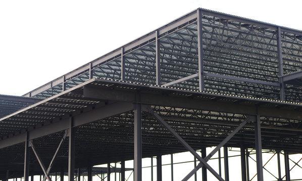 metal structure construction site building beams girders