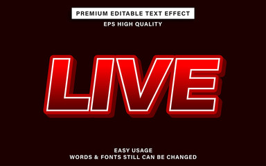 Wall Mural - live text effect