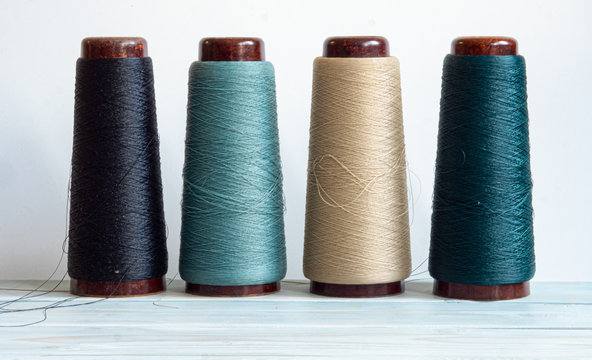 threads accessories for needlework on a sewing machine
