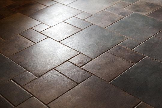 Shiny stone floor tiling, background photo