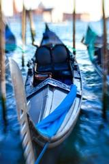 Keuken foto achterwand Gondolas Traditional Venice Cityscape with narrow canal, gondola