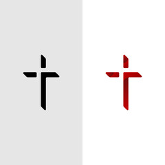 Christian Cross Church logo design vector illustration
