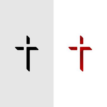 Christian Cross Church logo design vector illustration