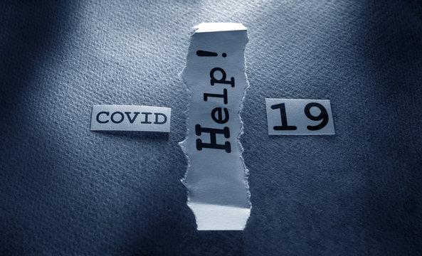 COVID-19 text tag