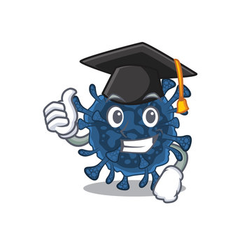 A picture of decacovirus with black hat for graduation ceremony
