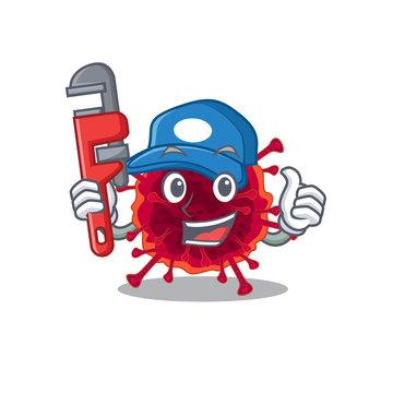Smart Plumber pedacovirus on cartoon character design