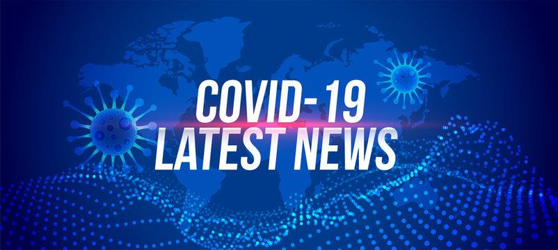 Covid-19 coronavirus latest news updates banner design