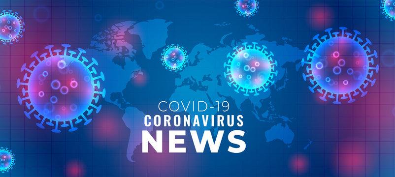 covid-19 coronavirus news and updates banner concept