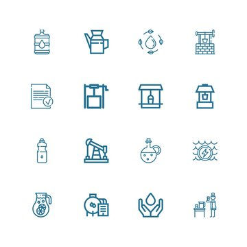 Editable 16 well icons for web and mobile