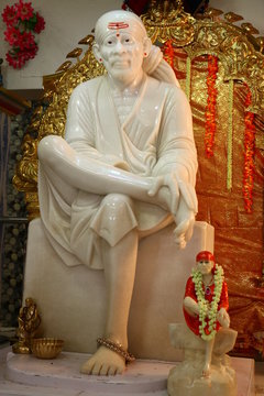 Sai baba in indian temple 2