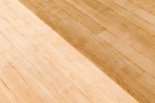 Sanding and staining a wood floor, UK