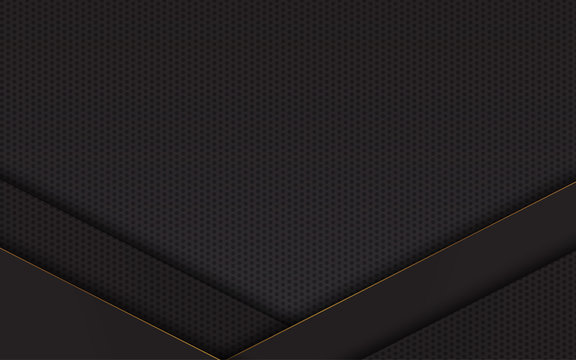 Abstract background black and gold line luxury modern design