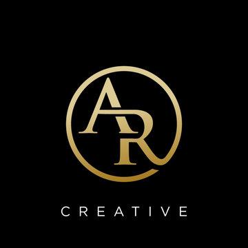 ar logo design vector