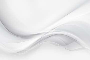 Wall Mural - White and grey gradient soft waves background