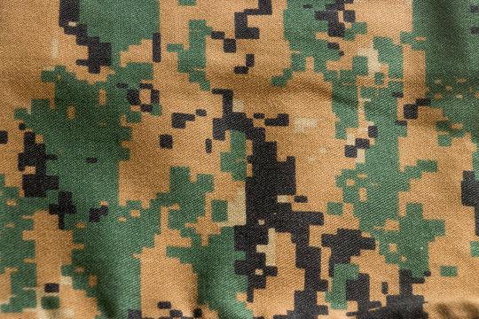 US marine marpat digital camouflage fabric texture background, Nylon, Cotton, Marpat.