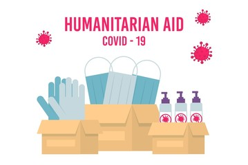 Humanitarian Support, Goodwill Mission in Suffering from Coronavirus Epidemic Country, Intentional Help, Supplying Masks for China Concept.