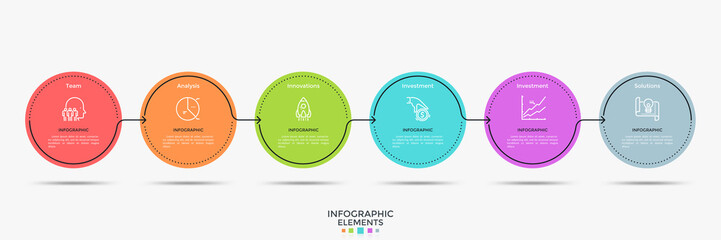 Minimalistic Infographic Template Fotomurales