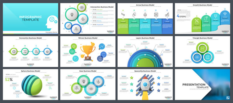 Collection of presentation templates