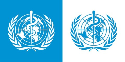 WHO World Health Organization Logo in Blue and White Colors Variation