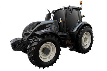 Etiqueta Engomada - Modern tractor isolated on white background