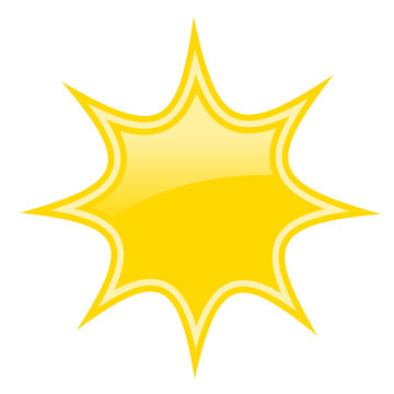 Yellow bursting star icon