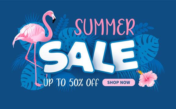 Advertising Banner About Seasonal Summer Sale