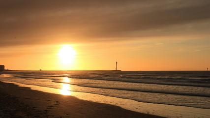 Sonnenuntergang bei Ostende