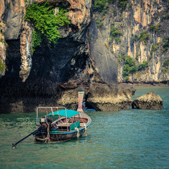 Boat by Koh Hong island