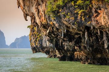 Rock formations on Koh Hong island in Andaman Sea