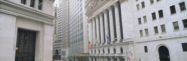 New York Stock Exchange in Financial District of Lower Manhattan, New York City, NY