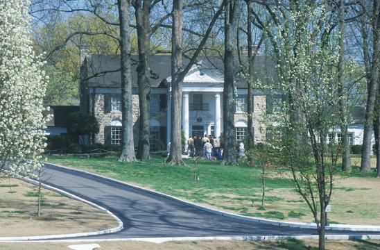 Entrance to Graceland, home of Elvis Presley, Memphis, TN