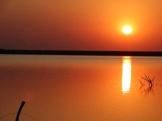 Foto op Aluminium Oranje amanhecer