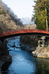 Shinkyo - historical bridge in Nikko city