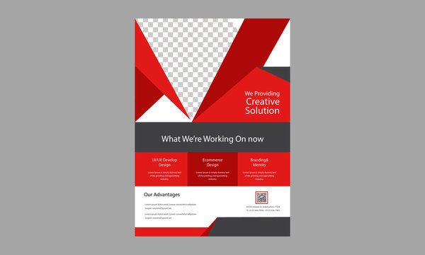 Corporate Flyer Layout with Graphic Elements