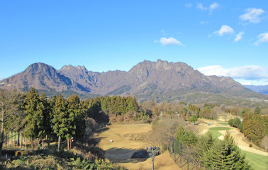 Foto auf Gartenposter Reflexion 日本三大奇景の一つとされる群馬県の妙義山