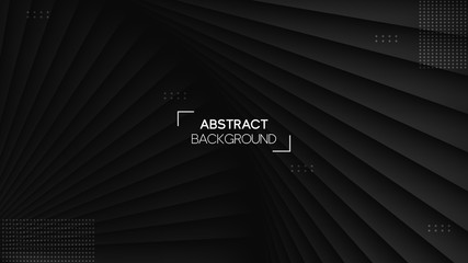 realistic black background with geometric style