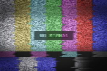 No signal TV test pattern background Fototapete