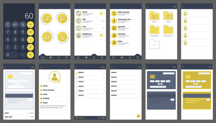 protection your material ui design app user interface template