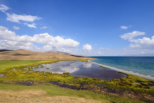 Kyrgyzstan, alpine Song Kol lake