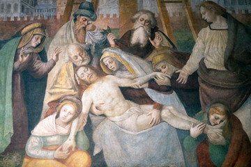 Painting in Sant Ambrogio church , Milan