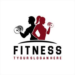 Fitness Logo . Sport and fitness logo Design . Gym Logo Icon Design Vector Stock, Fitness Idea logo design inspiration