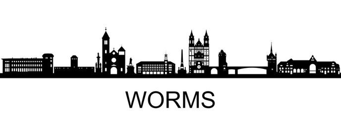 Worms Skyline Fototapete